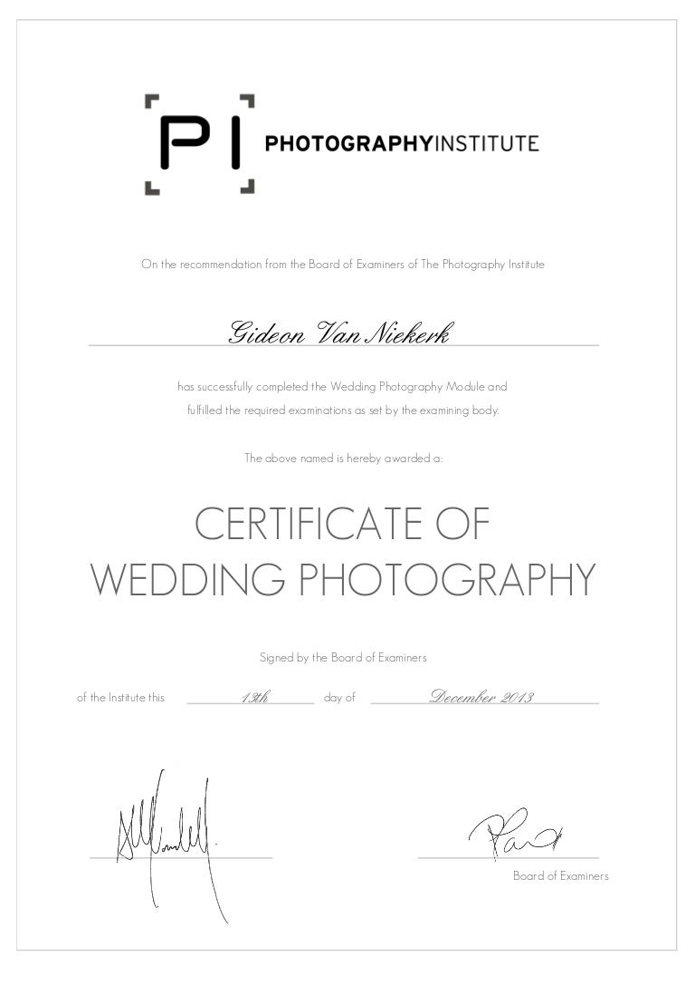 Wedding photography professional certificate 1betcityfo Gallery