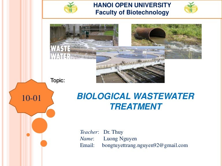 Biological wastewater treatment  MB Luong Nguyen Thanh