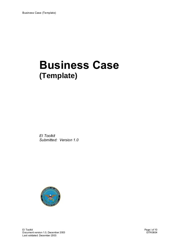 37 business case template business case template wajeb Image collections