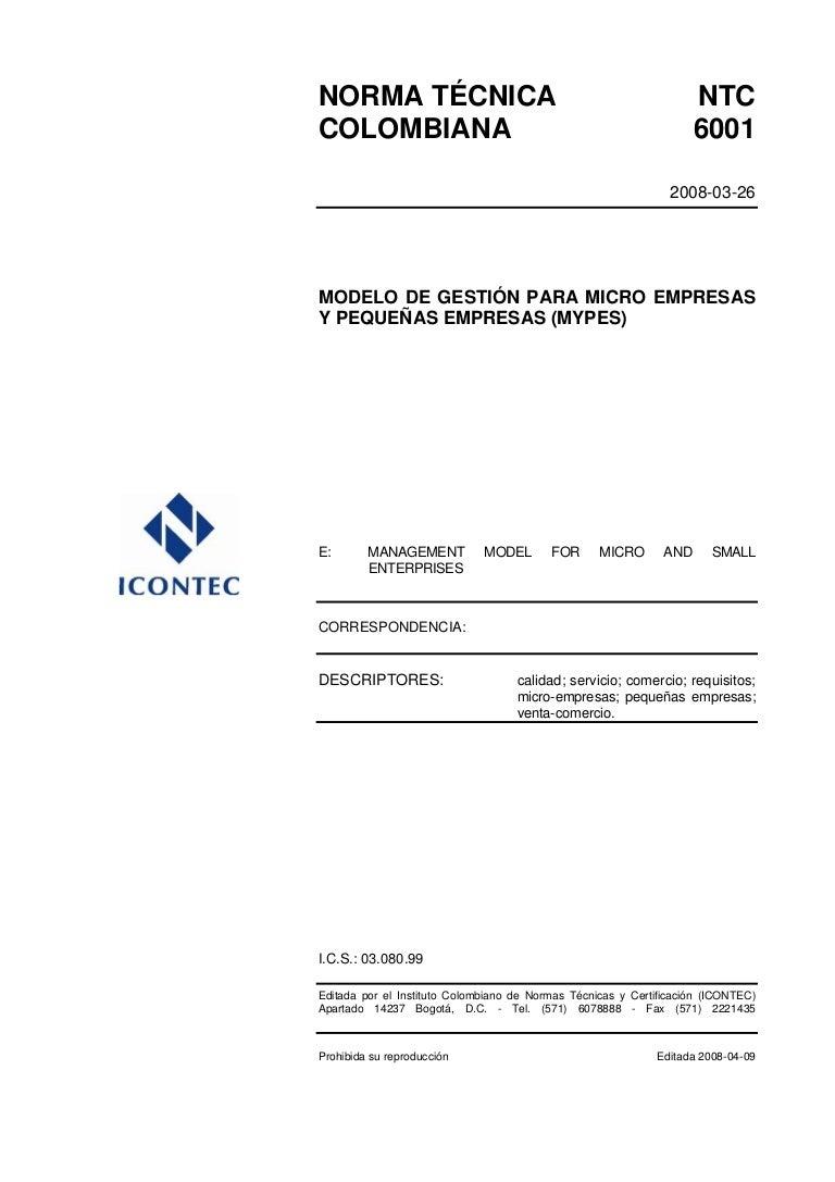 37306386 norma-icontec-ntc-6001-modelo-de-gestion-para-micro-empresas…