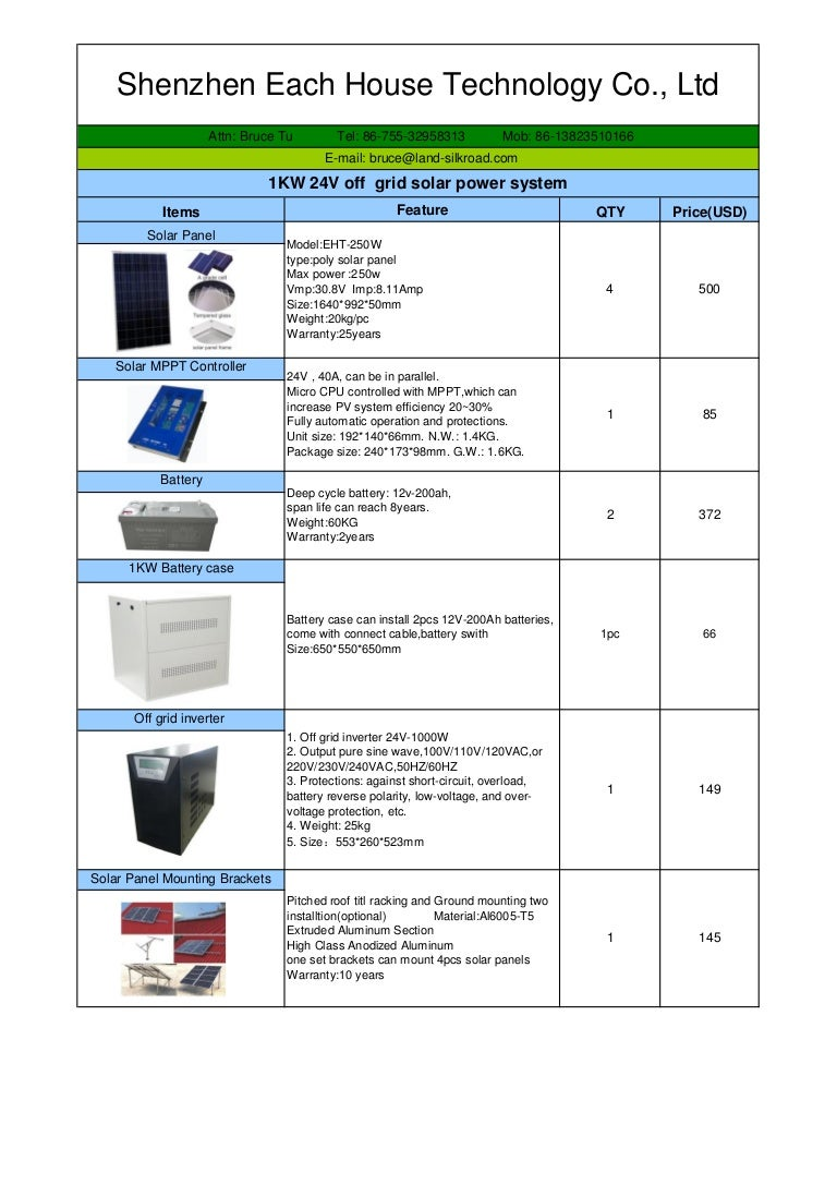 Eht 1kw 24v Off Grid Solar Power System Quotation Battery Reverse Polarity Protection In Low Voltage Applications