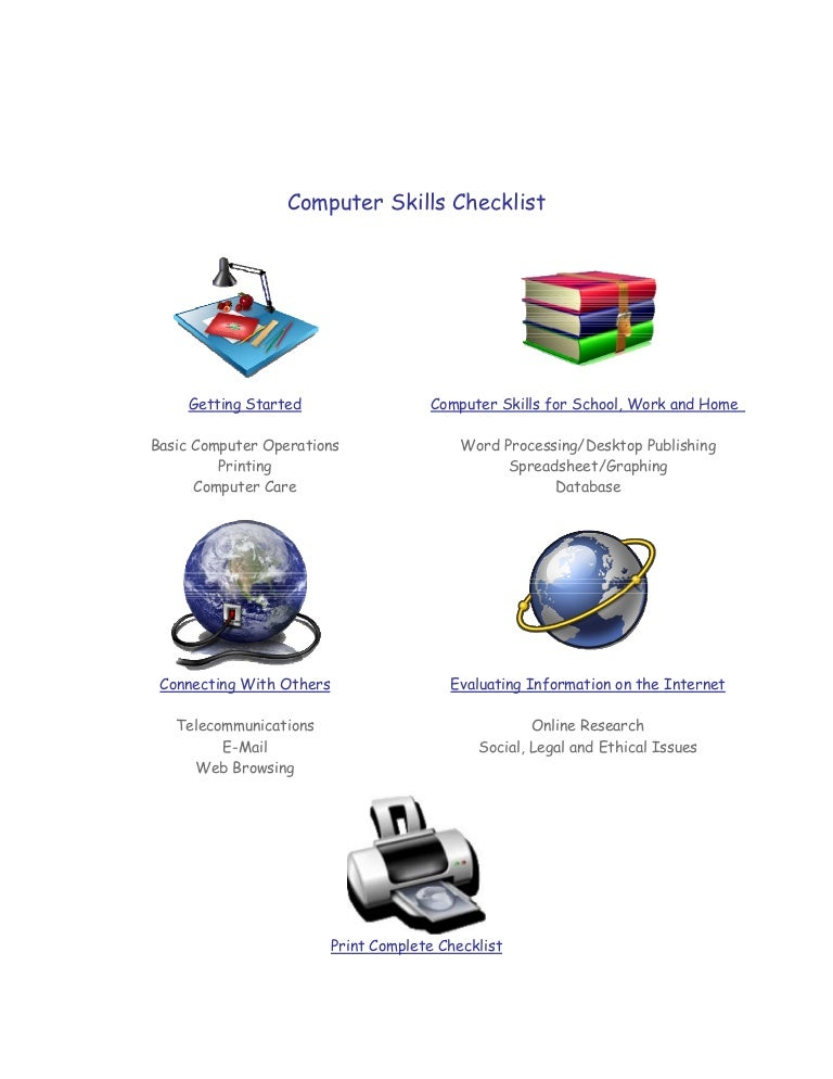 100 resume dictionary skills checklist campus to career