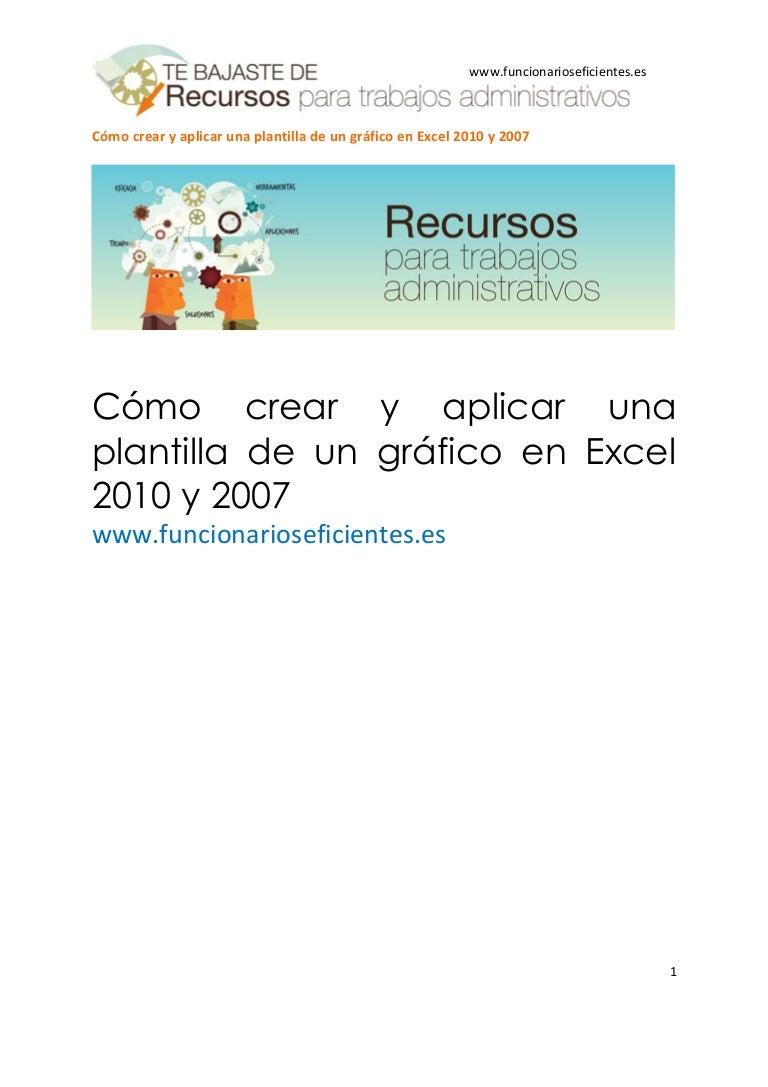Cómo crear y aplicar una plantilla de un gráfico en excel 2010 y 2007