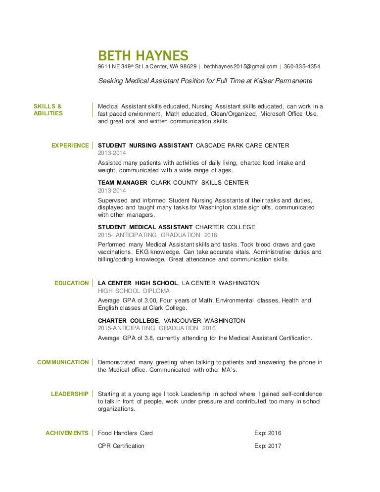 beth haynes_resume