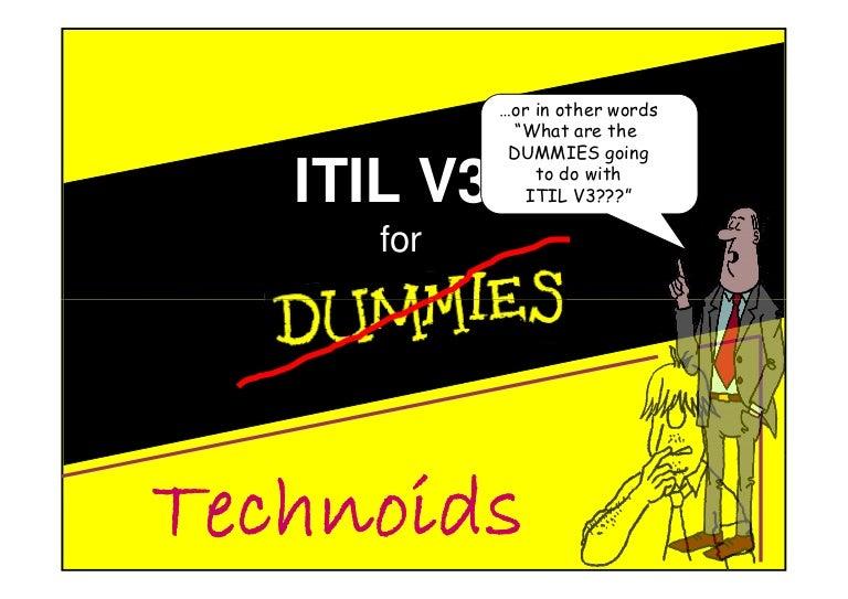 Itil V3 For Dummies