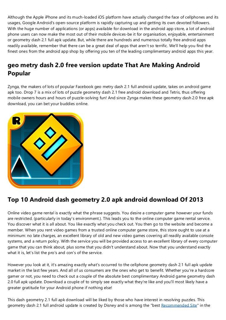 download game geometry dash 2.1 apk