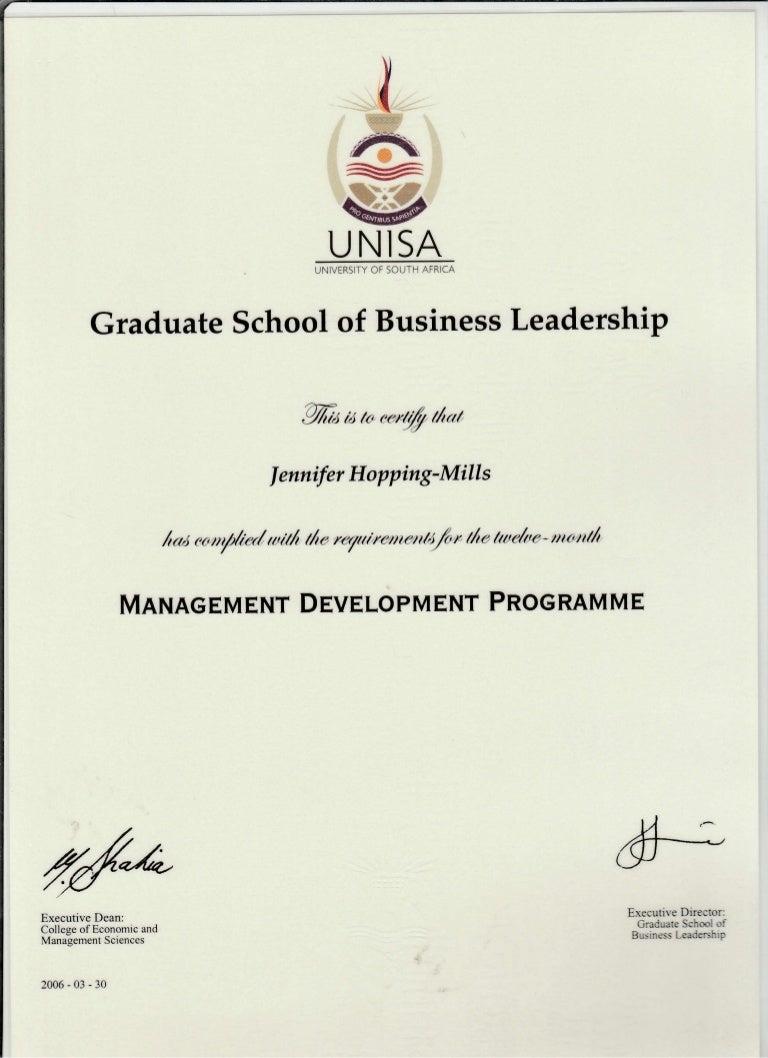unisa mdp diploma 2006