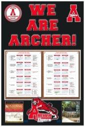 Archer High School Poster/School Calendar Proof