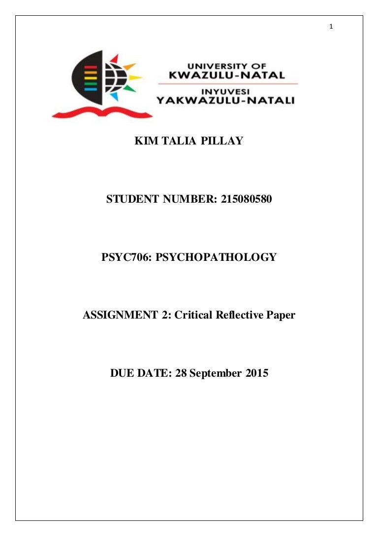 psyc assignment critical reflective paper print copy