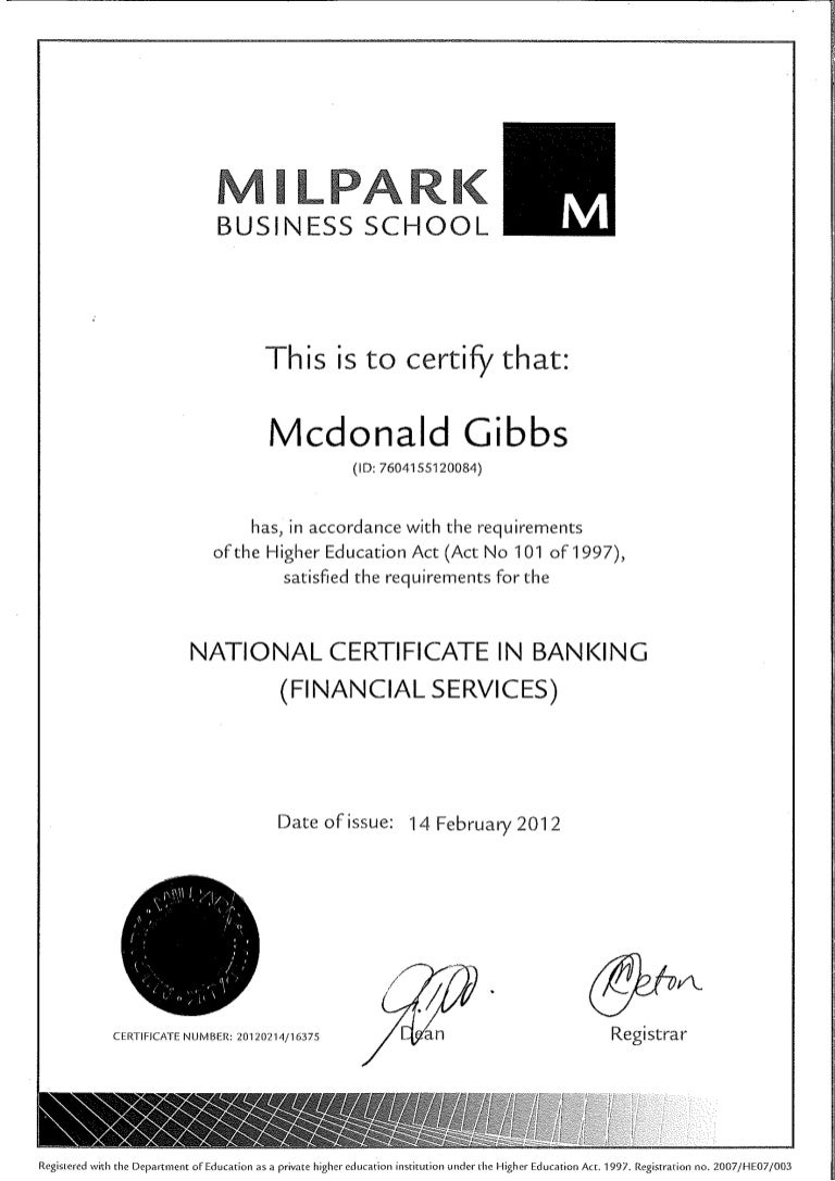 National certificate in banking 1betcityfo Images
