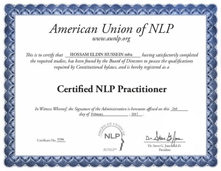 Certified NLP Practitioner ( UAE)