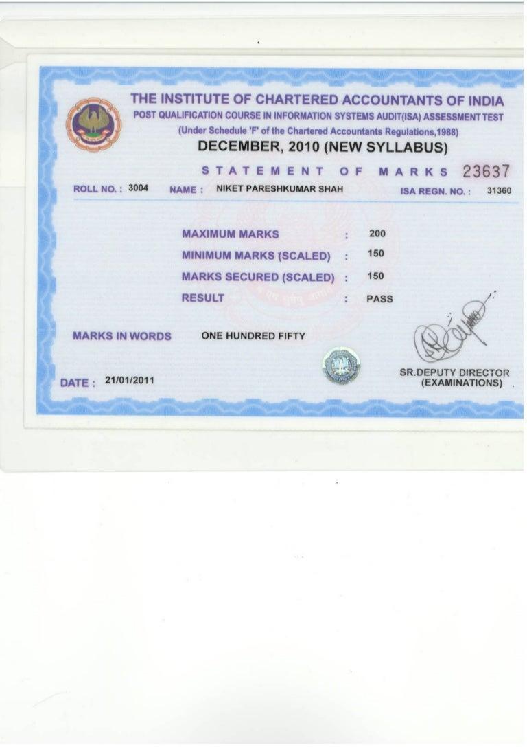 isa certificate slideshare upcoming
