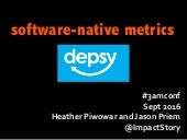 Software-Native metrics: Depsy lessons learned