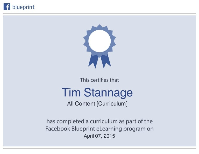 Facebook blueprint certificate malvernweather Images