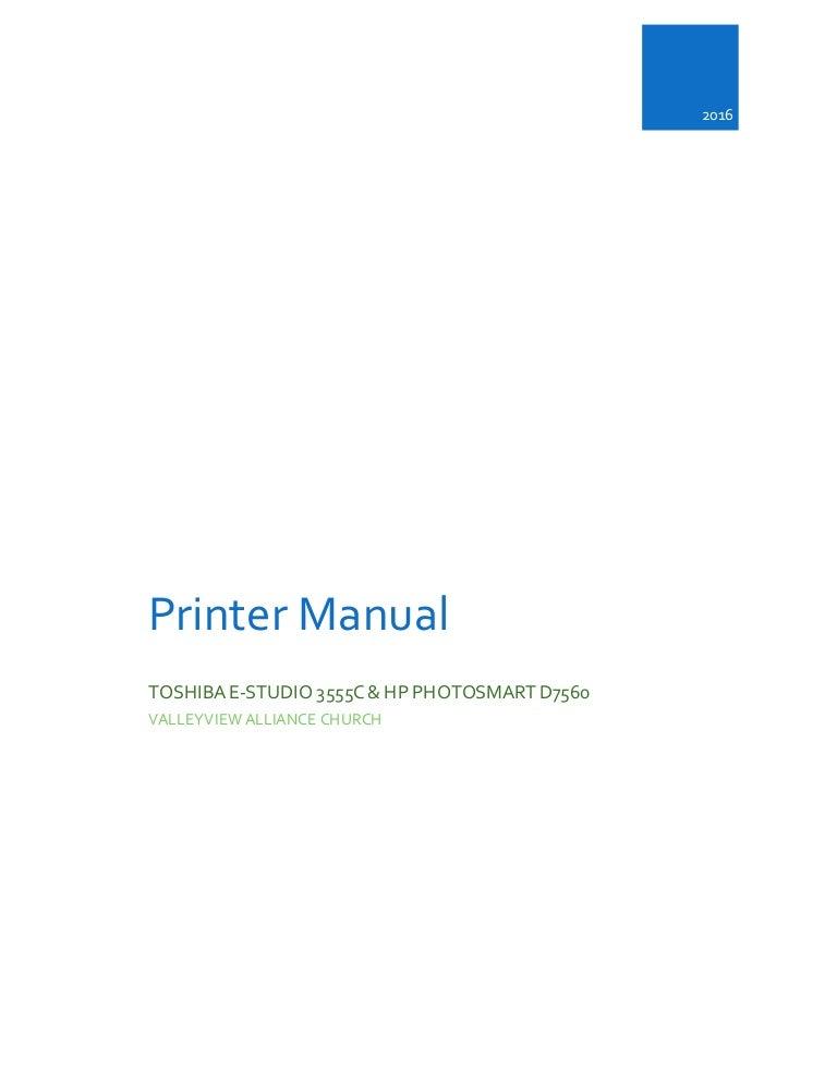 Final Printer Manual
