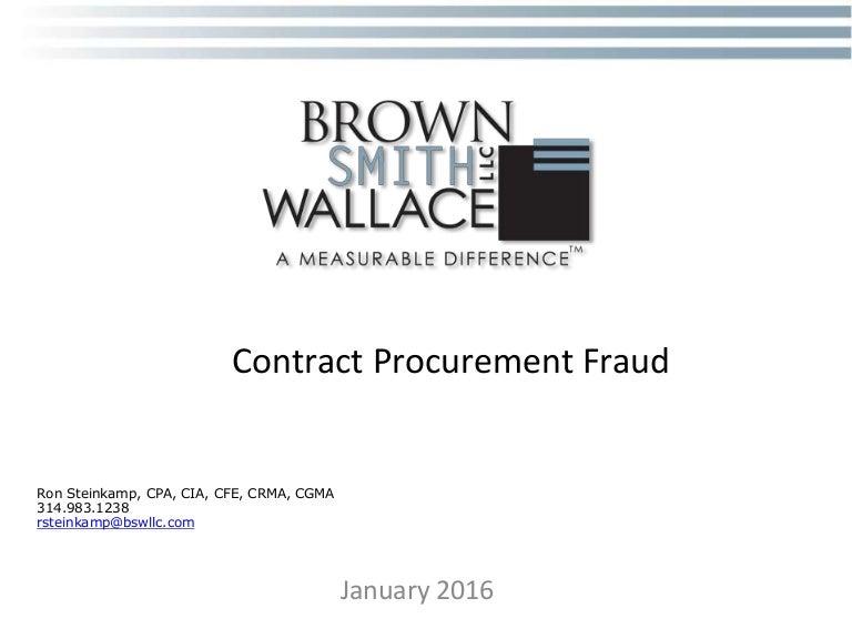 Contract Procurement Fraud