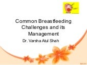 3 common breastfeeding challenges and its management