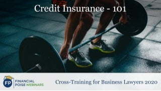 Credit Insurance - 101 (Series: Cross-Training for Business Lawyers 2020)