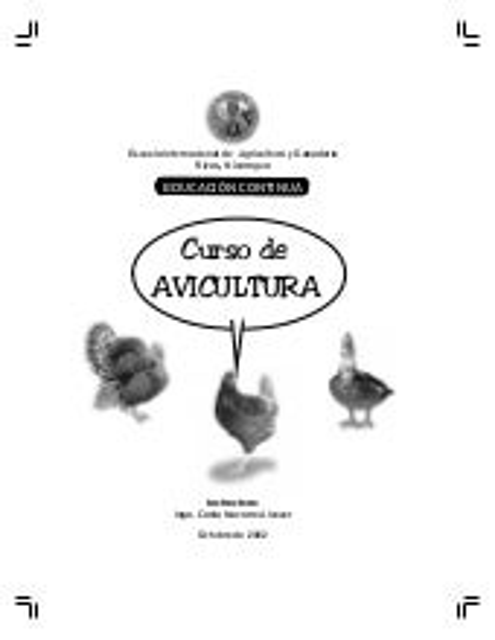 Manual de avicultura