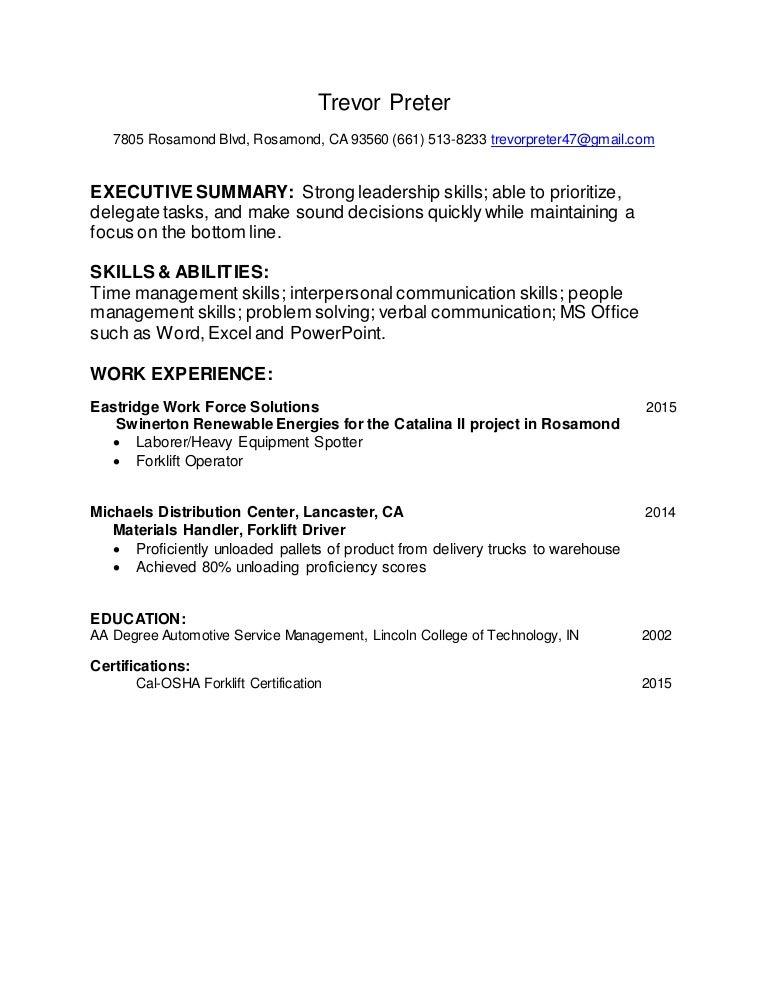 Trevors Resume Revised