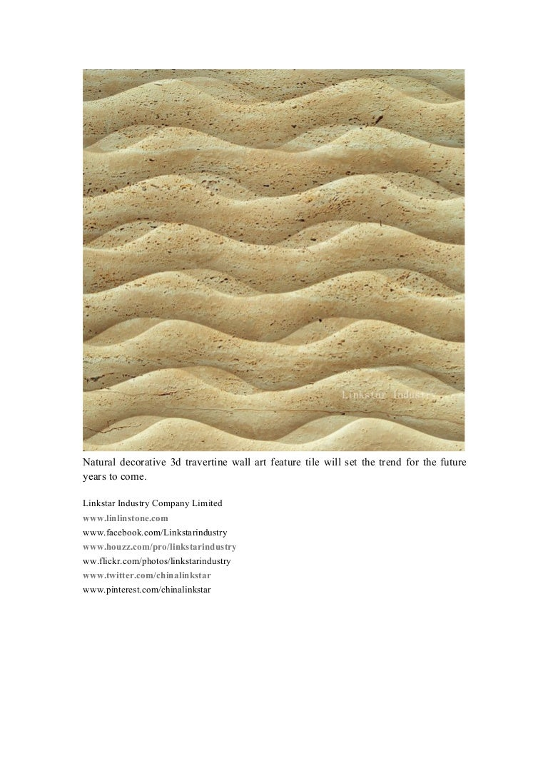 Natural decorative 3d travertine wall art feature tile