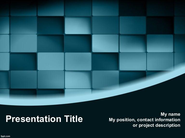 3d Design Free 3d Blue Blocks Powerpoint Template 3d Powerpoint Bac