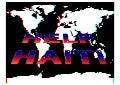 3D anaglyph with Haiti FONT