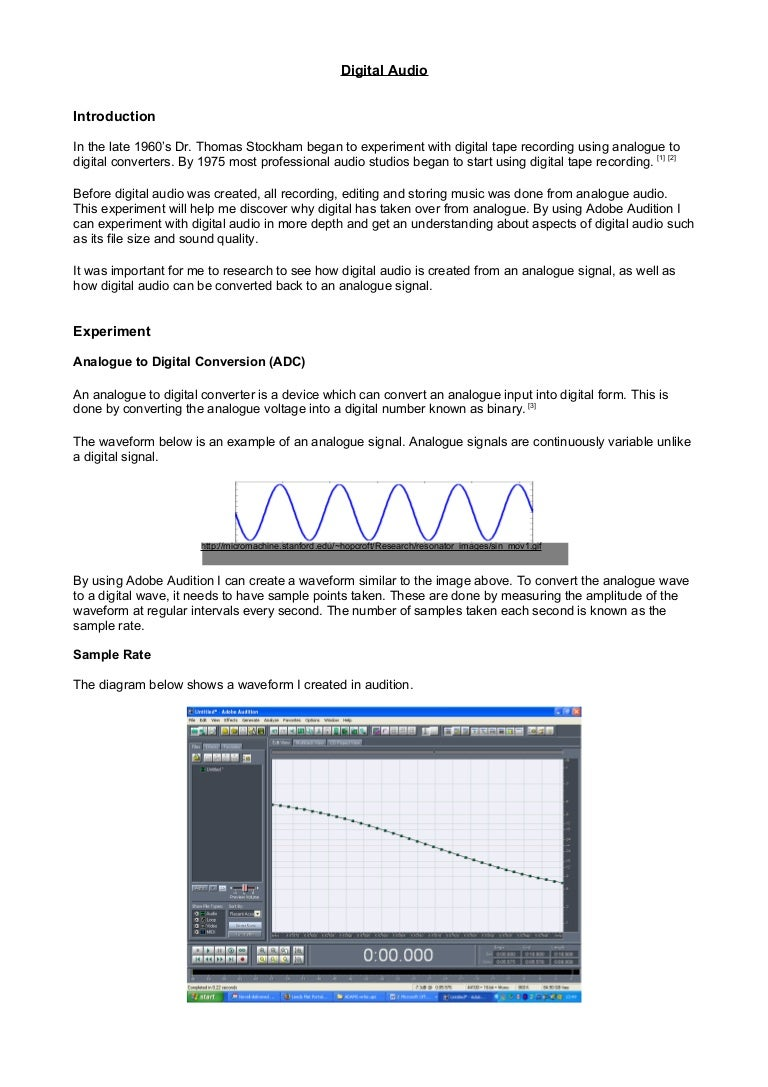 3 Digital Audio Normally Analoguetodigital Converter Adc Needs Interfacing