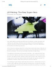 3D Printing: The New Super-Hero | Max Swahn