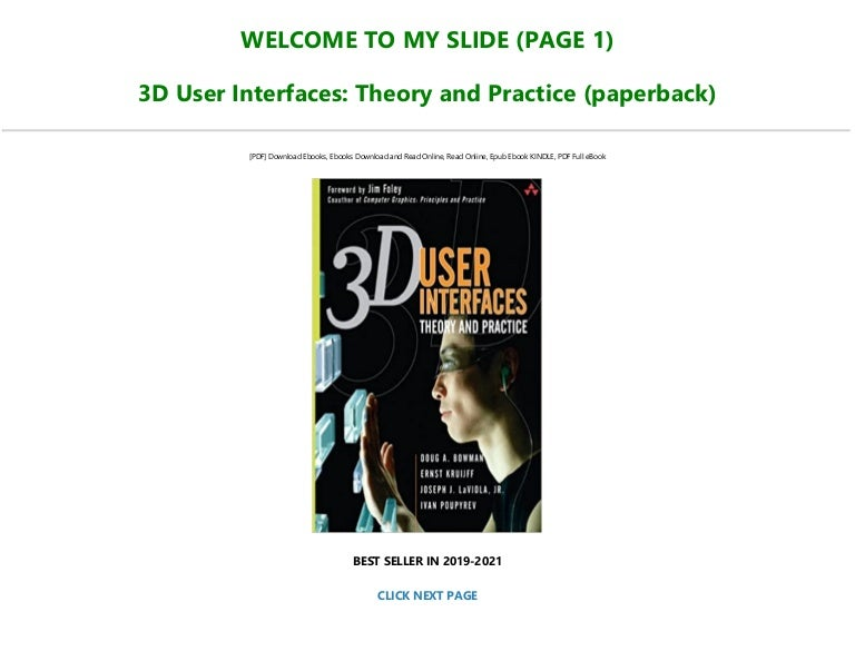 Download [PDF] 3D User Interfaces: Theory and Practice (paperback) Fu