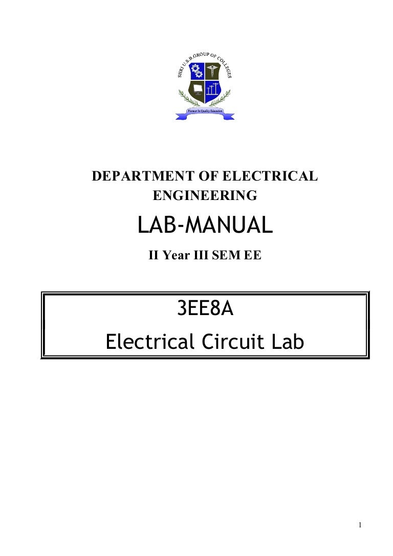 Electrical Circuit Lab The Thevenin Equivalent Is Of B 1 R