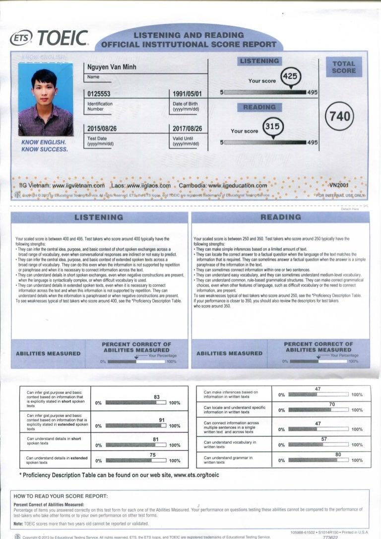 examen toeic gratis pdf