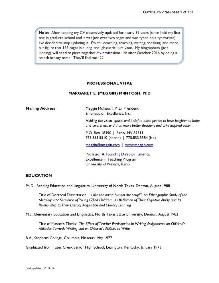 Meggin mcintosh phd curriculum vitae updated 10 24 16 fandeluxe Choice Image