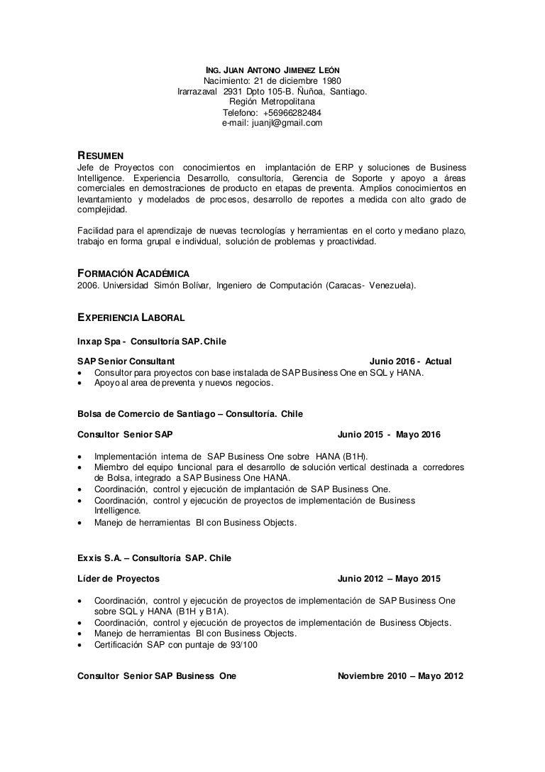ES Resume - Juan Antonio Jimenez Leon 2016