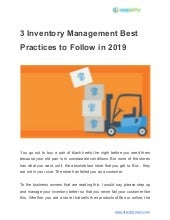 3 inventory management best practices to follow in 2019