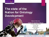 The state of the nation for ontology development