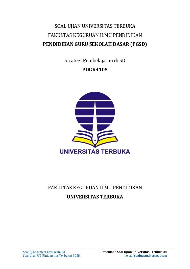 Soal Ujian Ut Pgsd Pdgk4105
