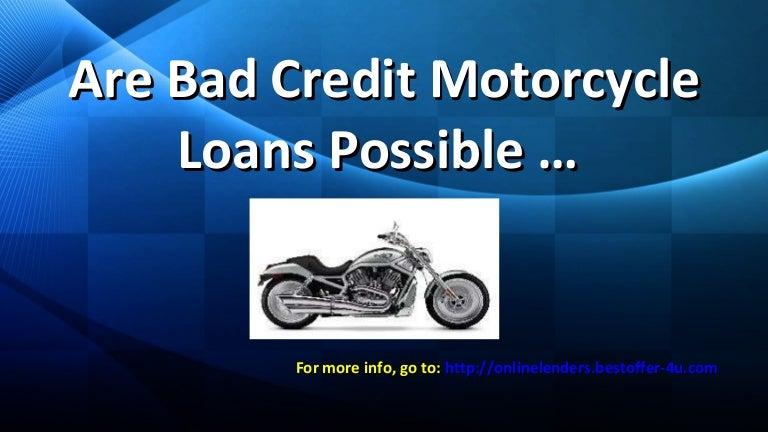 Lenders For Bad Credit Motorcycle Loans