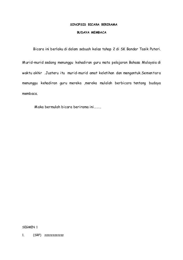 Sinopsis Pendek Buku Cerita Bahasa Melayu
