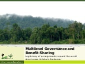 Multilevel Governance and Benefit Sharing