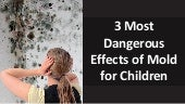 3 Most Dangerous Effects of Mold For Children