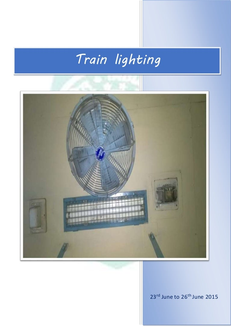 Vocational Training Report Train Lighting Kel Alternator Wiring Diagram