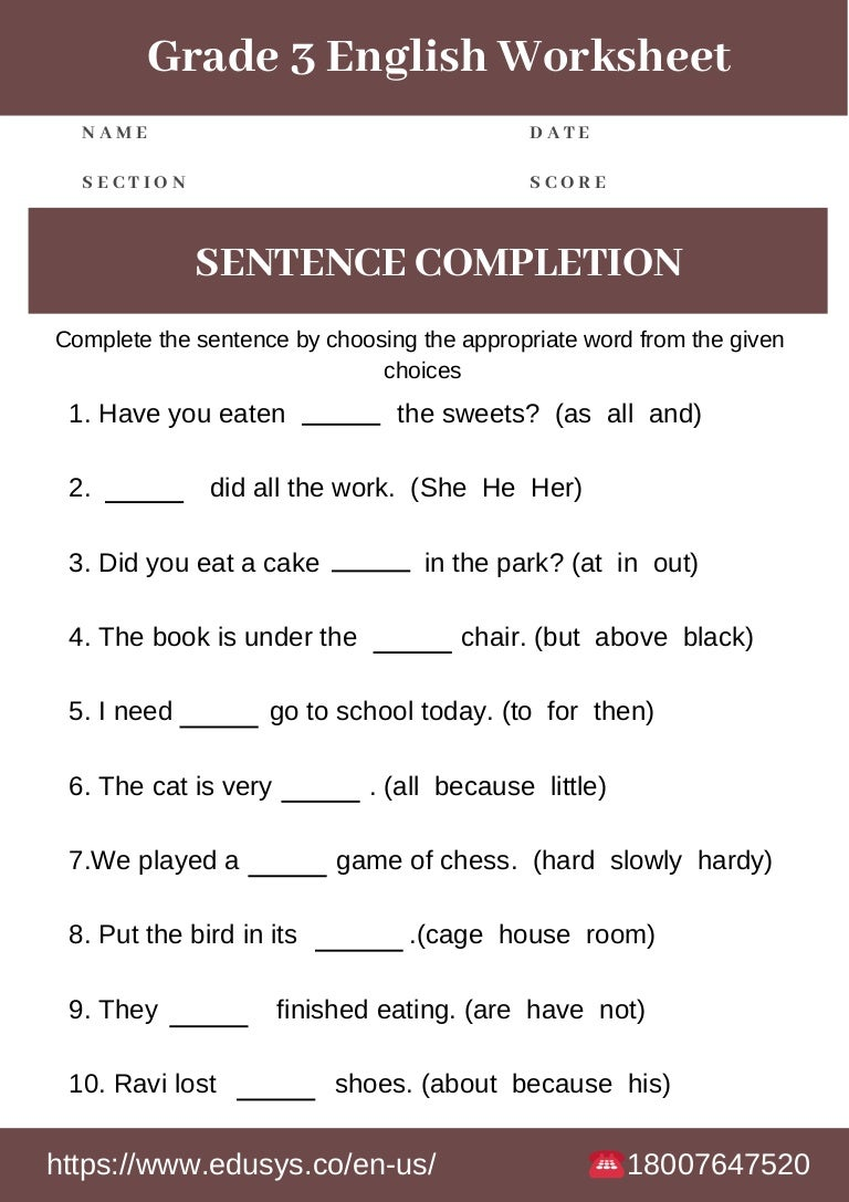 free printable exercises in english grammar