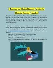 3 Reasons for Hiring Nearest Residential Cleaning Service Providers