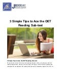 3 Simple Tips to Ace the OET Reading Sub-test