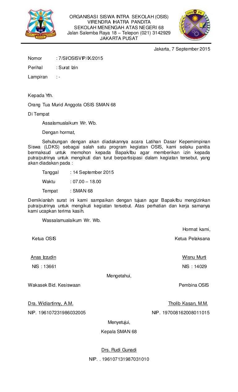 Surat dan Notulen Rapat OSIS/PK VIP