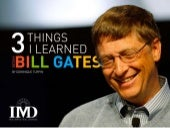 3 things i learned from bill gates final