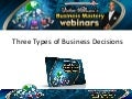 Victor Holman - 3 Types of Business Decisions (Audio)