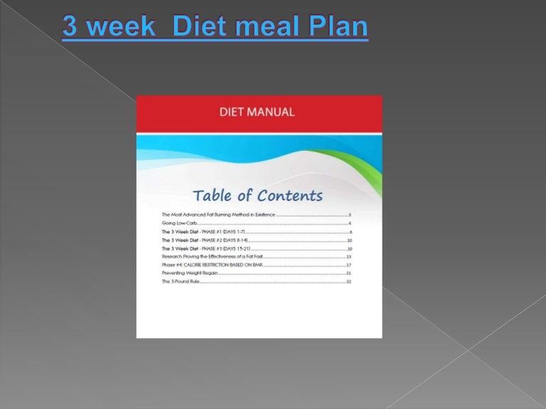 3 week diet meal plan