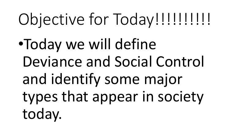 major types of social control